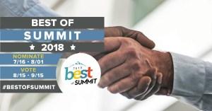 Vote Best of Summit 2018