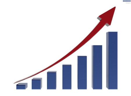 graph showing the average sale price trending up