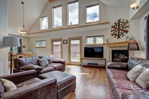 Open living area in this Breckenridge home for rent