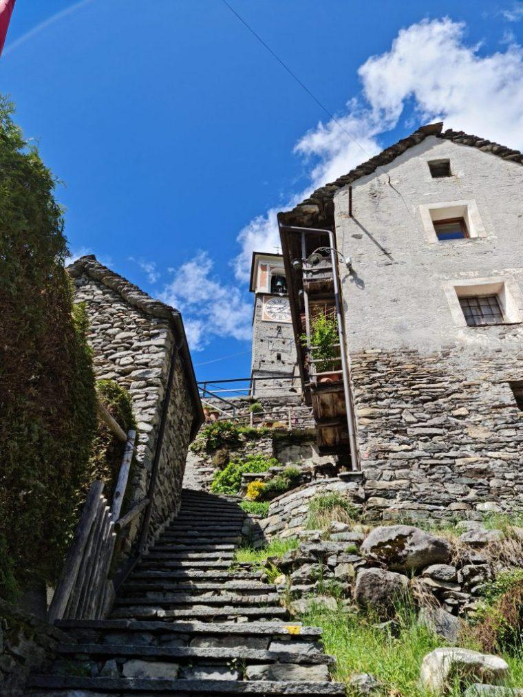 Quaint houses in Corippo