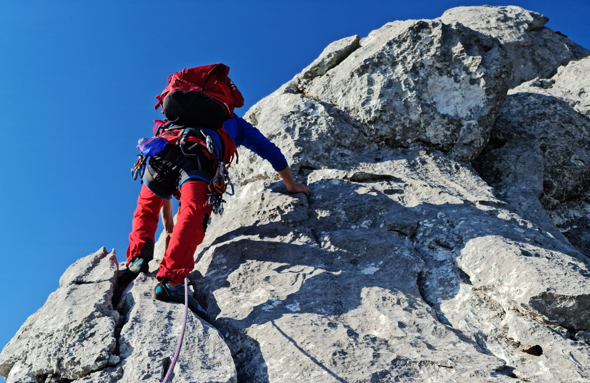 Another airy pitch on Chöpfenberg south ridge (S-Grat)