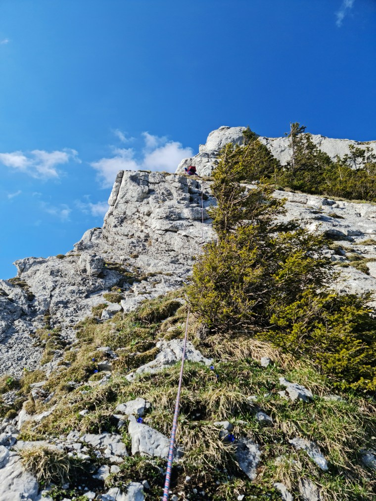 On the upper pitches of Chöpfenberg south ridge (S-Grat)