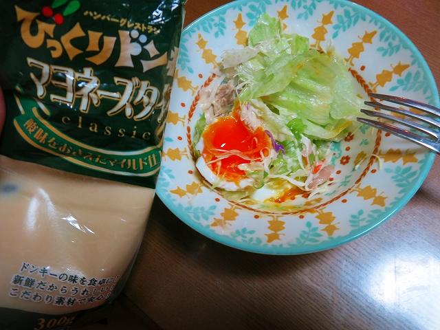びっくりドンキーのマヨネーズタイプでサラダを食べよう!【食べるブログ】