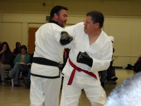 David Sullivan sparring John Miller