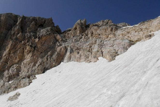 Upper part of the Calderone glacier