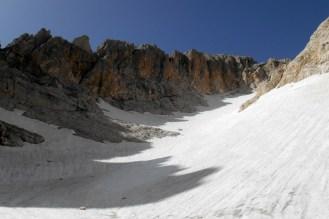 Central part of the Calderone glacier