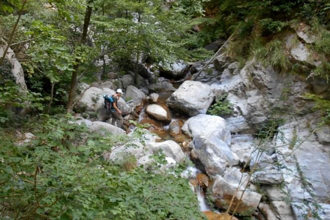 Pathfinding on the slippery rocks