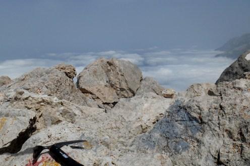 View from the summit of Corno Piccolo