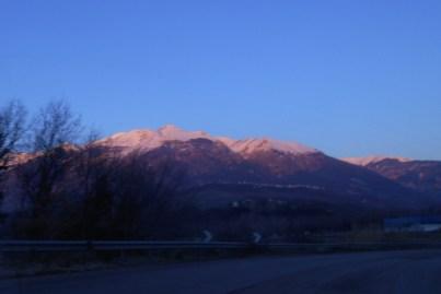 Majella range at sunrise