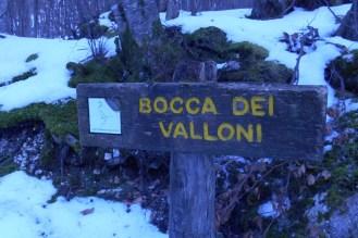 The junction 'Bocca dei Valloni'