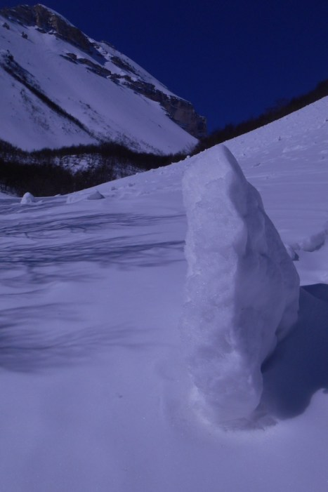 Chuck of frozen snow