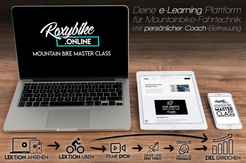 Roxybike online Fahrtechnik-Training für Mountainbiker