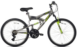 Northwoods Aluminum Full Suspension Mountain Bike