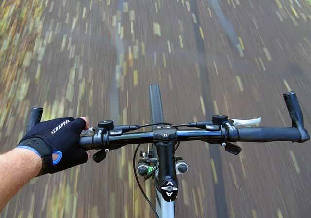 mountain biking handlebar