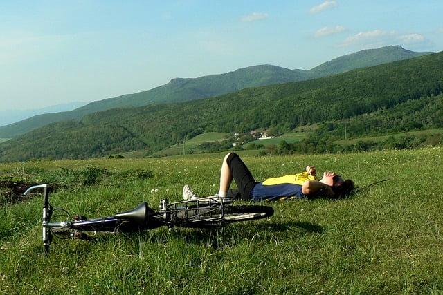 relax mountain biking