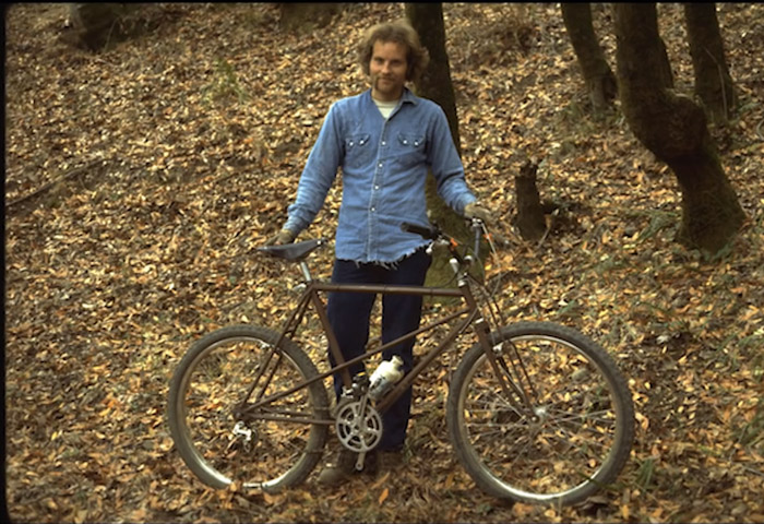 joe breeze with mountain bike