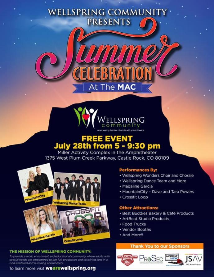 MountainCity to Headline Free Concert at Wellspring's Summer Celebration