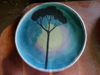 Plate waiting to be fired