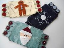 Santa, Snowflake, Gingerbread Man $12