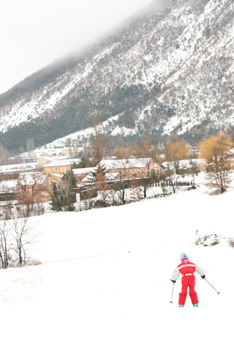 Skiing à la ferme