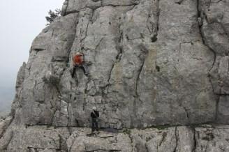 Nigel Lewis climbing with Steve K at El Torcal