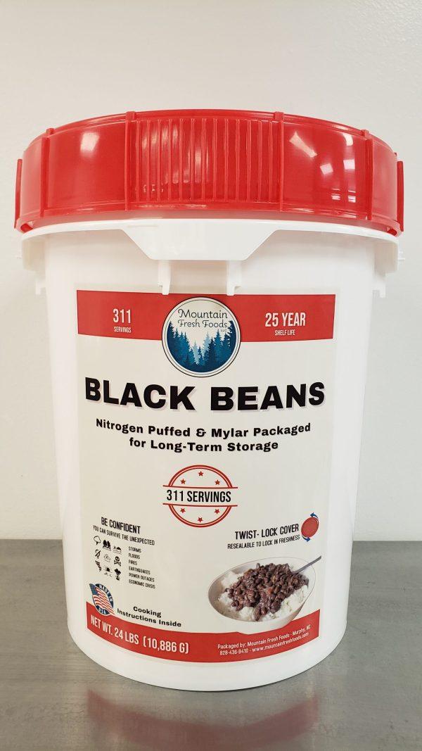Black Beans 24 lbs Bulk Bucket