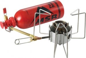 the MSR DragonFly multi fuel camping stove