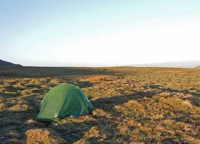 Testing the Terra Nova competition tent on a beautiful wild camp on the Pennine Way.