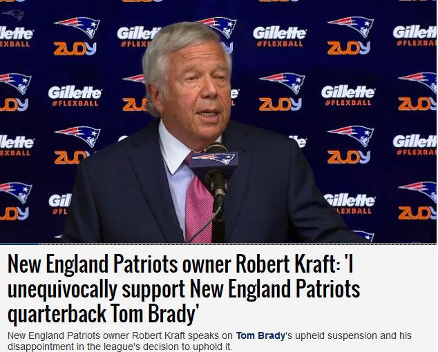 Patriots Owner Robert Kraft Defends Brady & Blisters NFL