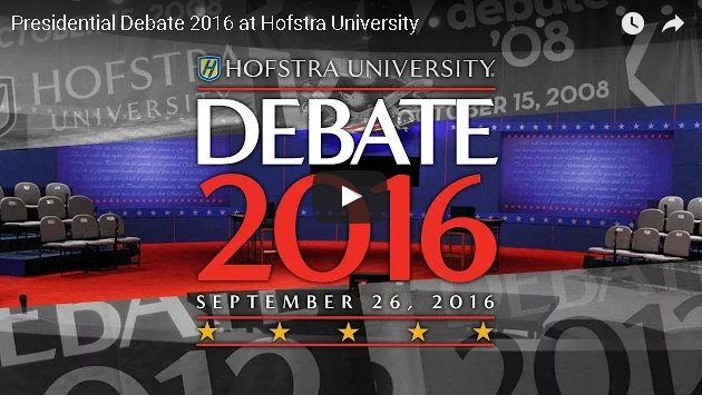Watch The Presidential Debate Tonight Live Right Here!
