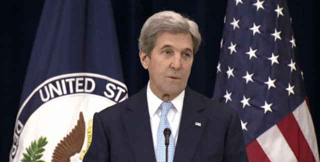 Secretary Kerry Delivers Remarks On  Middle East Peace