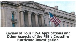 DOJ OIG Releases Review of Four FISA Applications and Other Aspects of the FBI's Crossfire Hurricane Investigation