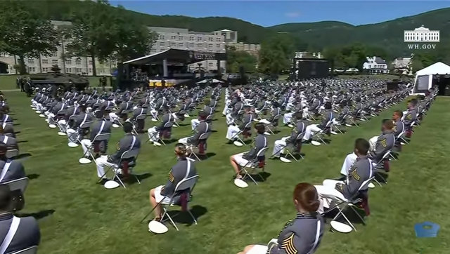 President Trump at 2020 United States Military Academy at West Point Graduation