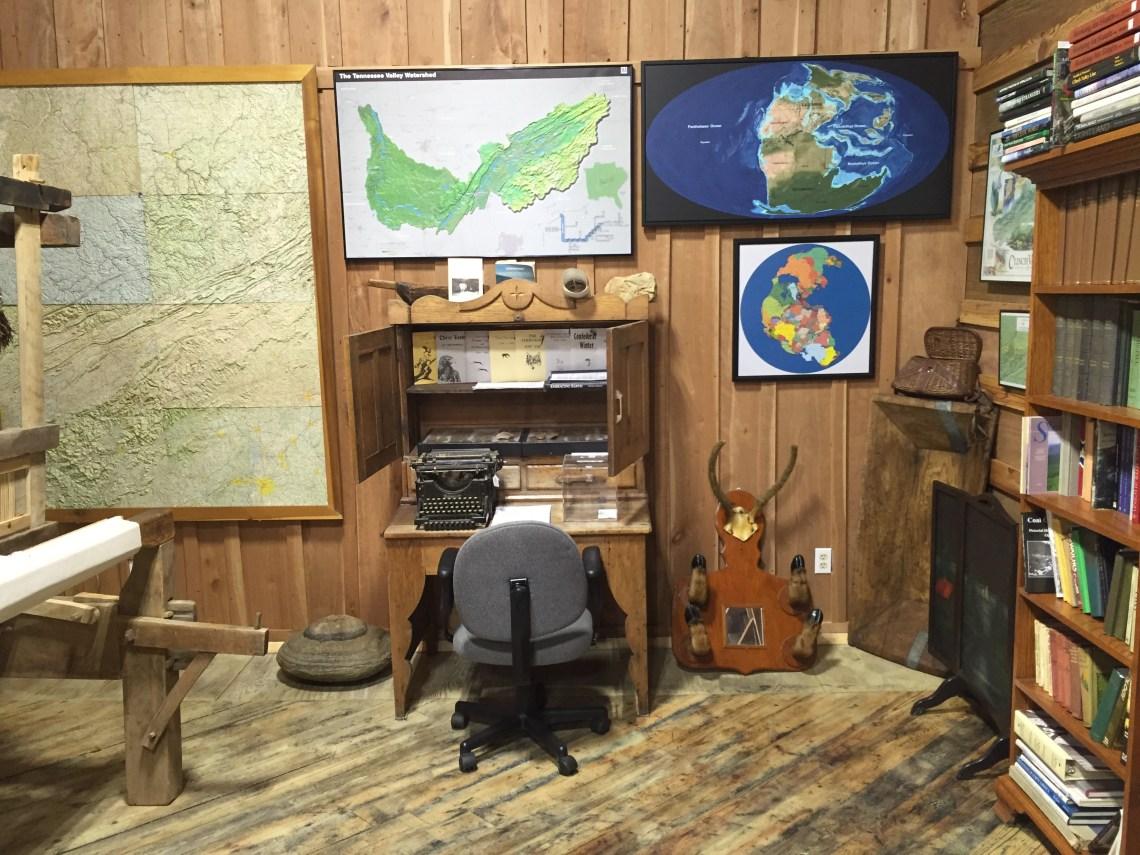 Antique Typewriter and Maps