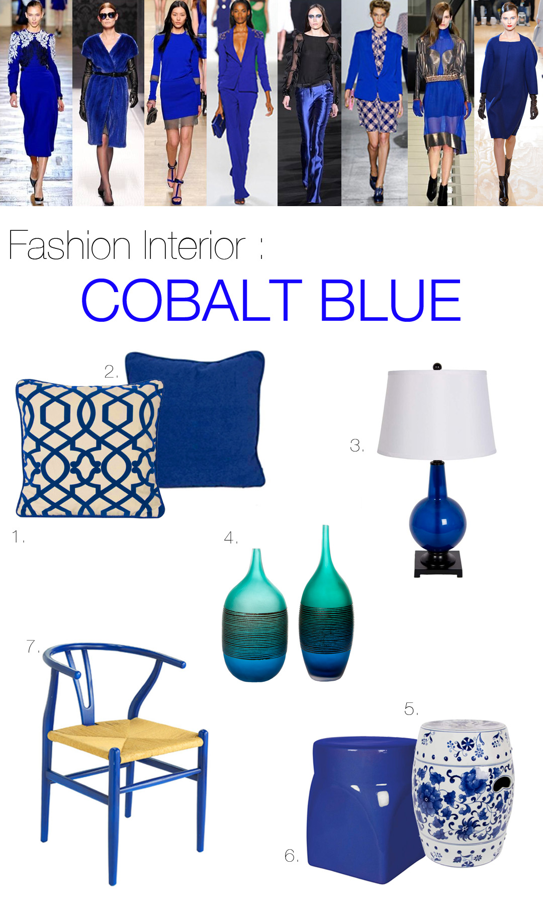 Cobalt Blue Mountain Home Decor