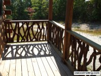 Log Cabin Railing Design | Mountain Laurel Railing