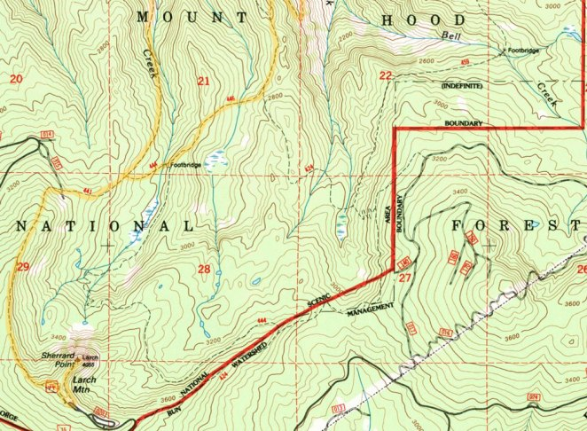 Larch Mountain inset, click for full map (big file).