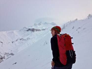 Ethan Linck chasing powder on Mt Hood.