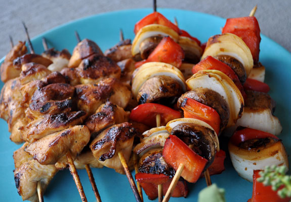 Quick-Teriyaki-Marinade-for-Grilled-Chicken-and-Vegetable-Kabobs