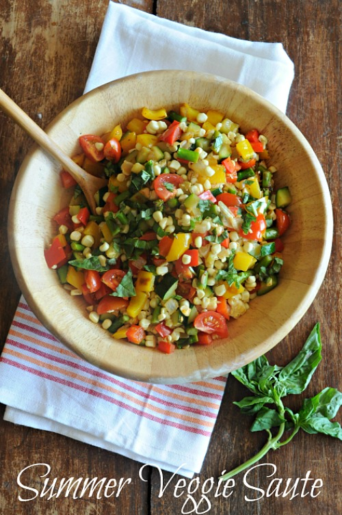 Summer Veggie Saute, recipe by Mountain Mama Cooks
