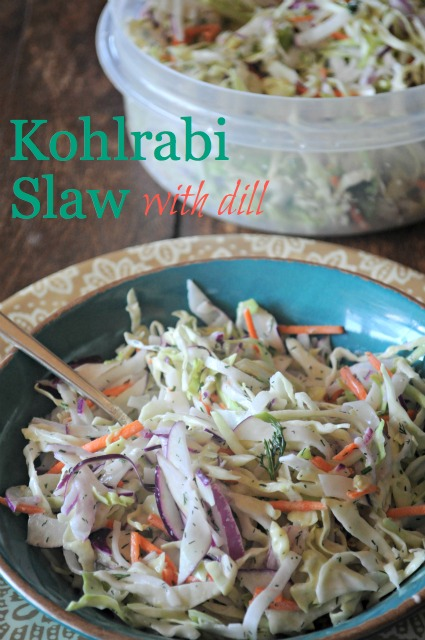 Vegan Kohlrabi Slaw Mountain Mama Cooks