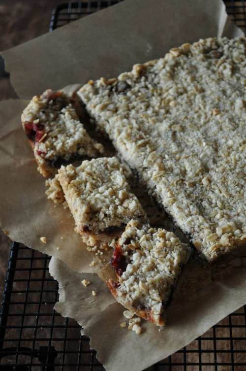 Oatmeal Triple Berry Jam & Oatmeal Bars, Mountain Mama Cooks
