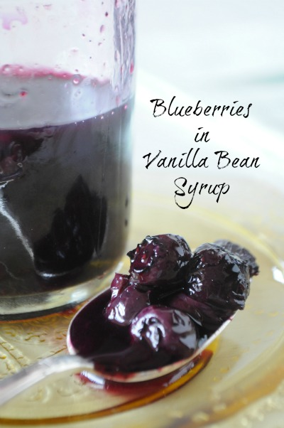 Blueberries in Vanilla Bean Syrup, www.mountainmamacooks.com