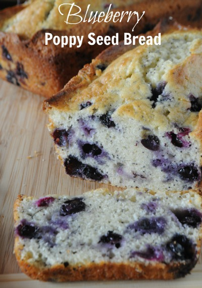 Blueberry Poppy Seed Quick Bread, www.mountainmamacooks.com