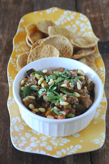 Caponata Appetizer, www.mountainmamacooks.com