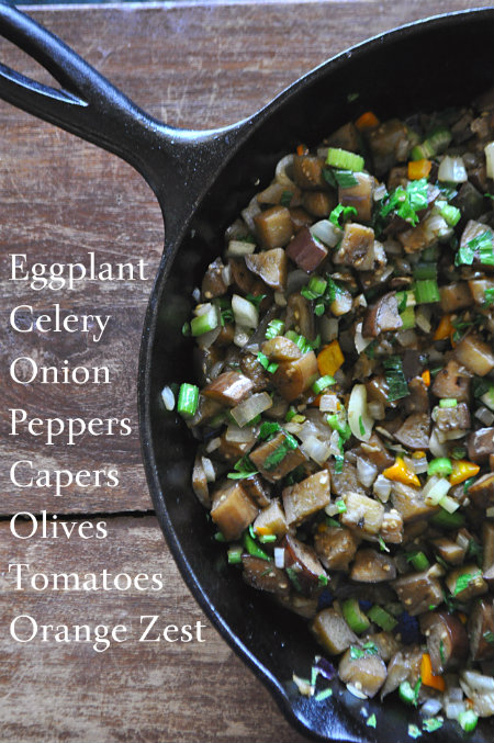 Caponata Ingredients, www.mountainmamacooks.com