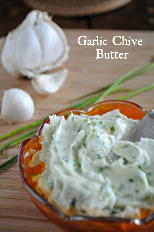Easy Garlic Chive Compound Butter, www.mountianmamacooks.com