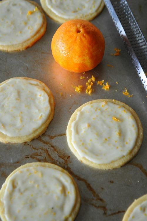Easy Orange Flavored Sugar Cookies with Orange Glaze