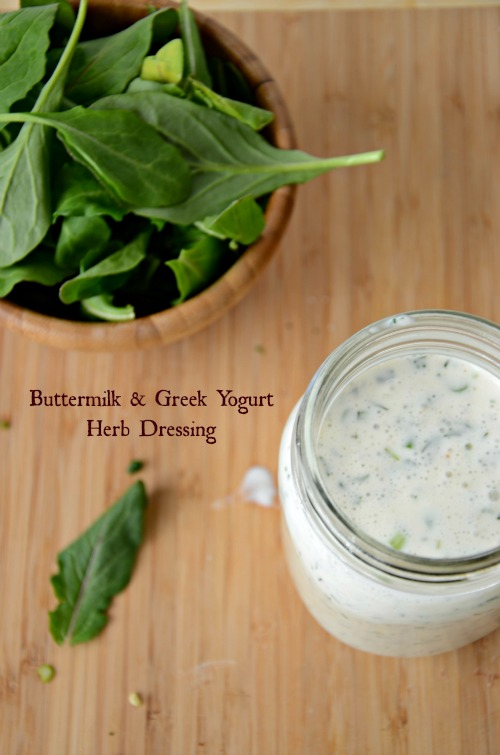 Buttermilk & Greek Yogurt Herb Dressing, www.mountainmamacooks.com #recipe #salad #ranchdressing