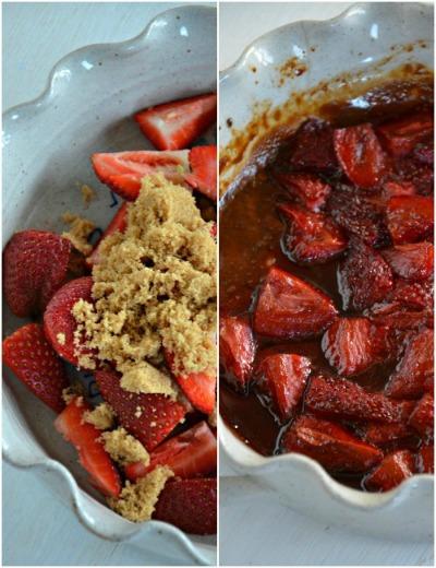 Balsamic Roasted Strawberries, www.mountainmamacooks.com